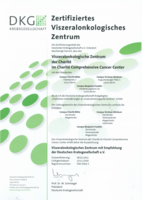 Bild: Zertifikat Viszeralonkologisches Zentrum im Charite-Comprehensive-Cancer-Center 2018